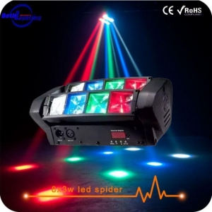 China DJ LED Lights 8X3W RGBW Mini Moving LED Spider Light on sale