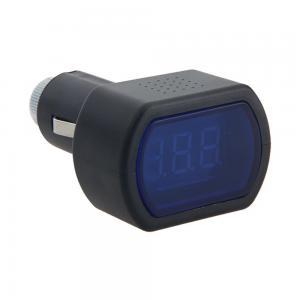 China 12V-24V Red LED Cigarette Lighter Plug Digital Voltmeter Gauge Car Voltage Meter on sale