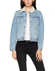 China Levi's Women's Original Sherpa Trucker Denim Jacket on sale