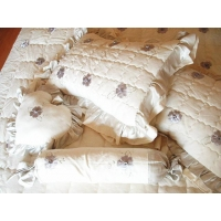 Bed-Products hemp/cotton + hemp/silk embroidery pillows 102