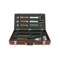 China TBC15-BBQ02611 PIECE STAINLESS STEEL BARBECUE BBQ GRILL COOKING TOOL SET WITH CARRY BAG on sale