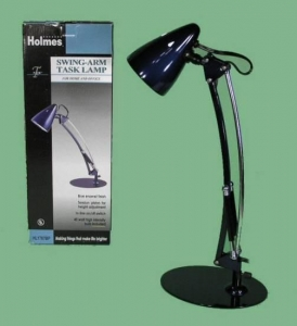 China Blue Holmes Home Office Dorm Swing-Arm Task Lamp with 40W Bulb HL1767BP on sale
