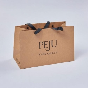 China Custom kraft paper package shoping bags on sale
