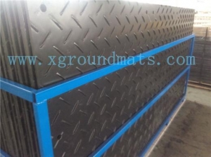 China Anti-Skid HDPE road mats ,anti-slip HDPE mats as boat liner ,container liners on sale