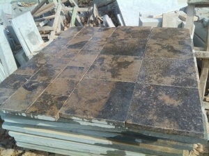 China Marble Brown Limestone Brick / Culture Stone / Wall Cladding on sale