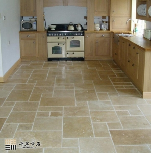 China Marble Natural Golden Beige Travertine Tile Paving Stone For Flooring, Paver, Garden on sale