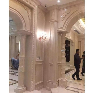 China Marble Roman House Column with carving handrailing on sale