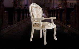 China White European style dining chair with armrests design on sale