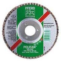 "Abrasives 24 GRIT POLIFAN 4-1/2"" x 5/8-11 W/ HUB MASONARY FLAP DISC SILICON CARBIDE FLAT SG"