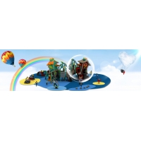 China New kids body building playground swing set for kids play on sale