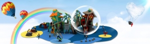 China spider web go round playground net on sale