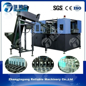 China Global 1.5 Liter Hand Put PET Preform Six Cavities Fully Automatic Blow Moulding Machine on sale