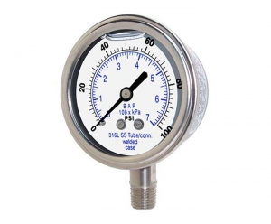 China Pressure Gauges Full Stainless steel Pressure Gauge on sale