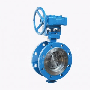 China Pulp valve Flange type multi layer hard seal butterfly valve on sale