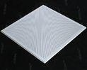 China White Perforated Lay In Ceiling Tiles 2 x 2 , Metal Ceiling Tiles For Train station on sale