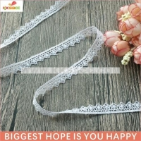 2017 wholesale beautiful white lace for kid garment decoration
