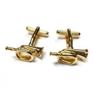 China Trumpet Cufflinks Jazz Music Orchestra Band Symphony on sale