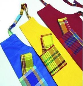 China Yarn-dyed apron tea towel set on sale