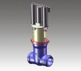 China Nuclear Main Steam Isolating Valve on sale