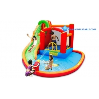 China Happy Hop Inflatable WATER POOL WITH SLIDES on sale