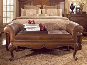 China Bedroom Leather Bedroom Bench on sale