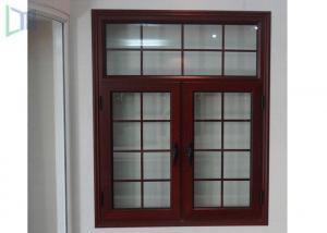 China American Style Aluminium Casement Windows Grille Design Wood Grain Finish on sale