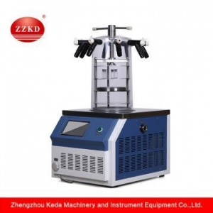 China Small Laboratory Benchtop Biotech Vacuum Lyophilizer on sale