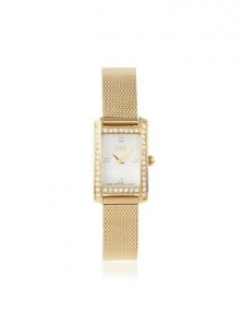 China ESQ by Movado Women's 07101383 Neve Square Gold Stainless Steel Watch on sale