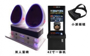 China Double Player 9D Egg VR Cinema 4 Special Effects For Amusement Park 110V ~ 220V on sale