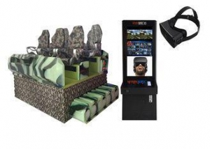 China PICO Helmet 9D VR Cinema Special Effects Tank Shape Design For Movie Theater on sale