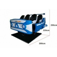 China 42 - Inch HD Screen 9D VR Cinema 6 - Axis Electric Cylinder Leather Seat on sale