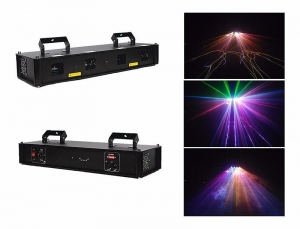 China laser light machine full color laser light / 2 eyes full color laser projector for dj music lighting on sale