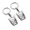China Hot Selling Couple Keychain Key Chain Key Pendant Barrel Shaped Keychain Logo for sale