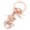 China Cute Deer Mini Car Key Unisex Korea Creative Key Chain Ring Pendant Lovers for sale