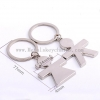 China Creative Boys, Girls, Metal Key Chains Custom Made Lovers Key Chains Engraved Names Love Statements for sale