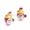 China Korean Chnese Style Ornaments Keychain Opal Diamond Fairy Chicken Rooster Car Key Bag for sale