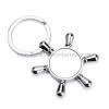 China Key Buckle Originality Men Ladies Lovers Key Chain Pendant Rudder Metal Key Ring Explosion for sale