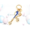 China Magic Love Creative Keychain Key Ring Golden Dice Men and Women Car Lovers Pendant Bag Ornaments for sale