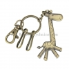 China Retro Giraffe Cartoon Key Buckle Car Waist Hanging Button Metal Key Ring Key Chain for sale