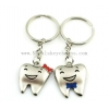 China Cute Metal Ideas Smiles Teeth Key Rings Chain Rings Bags Pendants Lucky Gifts for sale