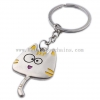 China Kitten Tag Key Chain Men and Women Key Rings Lettering Custom Gifts Cute Cartoon Cat Metal for sale