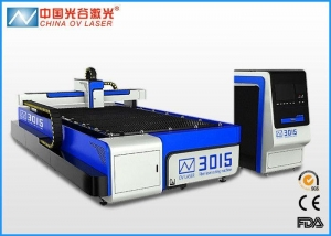 China IPG Fiber 3mm Stainless Steel Laser Cutting Machine , 500 Watt Sheet Metal Cutter on sale
