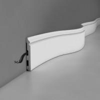 China High quality polyurethane moulding HD-B005 Flexibal Pu skirting board on sale