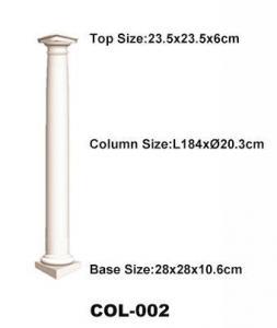 China High quality polyurethane moulding HD-COL002 Polyurethane Classical Ionic Order Column on sale