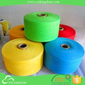 China Ne 20/2 dyed cotton polyester blended yarn weaving home textile fabric on sale