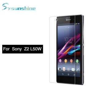 China 9H 2.5D Clear Excellent Flexibility Tempered Glass Screen Protector For Sony Z2 L50W on sale