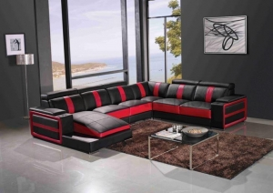 China Large Sectional Sofas with Storage Arm and Tray Holder on sale