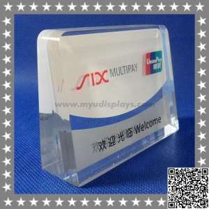China Engraved Acrylic Lucite Paper Weight Manufacturers on sale