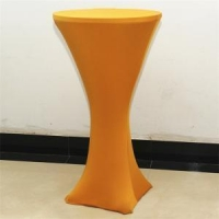 Spandex cocktail table cover, high bar cocktail table cloth for wedding