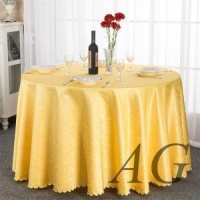 wholesale 120inch round polyester jacquard table cloth for wedding party restaurant